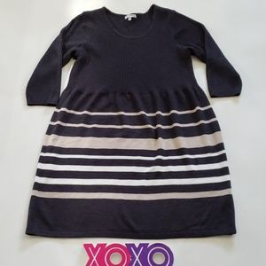 STUDIO ONE NY stripe sweater dress